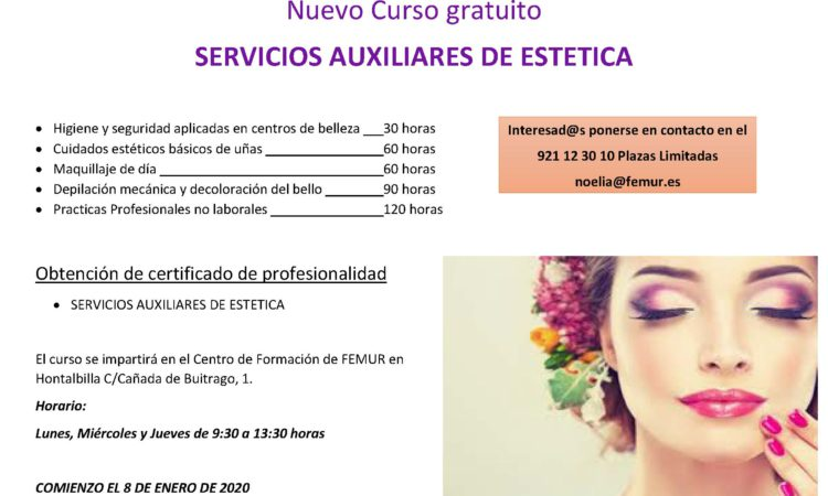 Curso GRATUITO «Servicios Auxiliares de Estética»