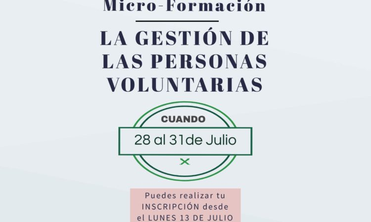 Nuestras voluntarias participan en la formación «La gestión de las personas voluntarias»